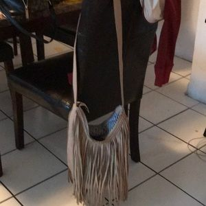 charming charlies fringe faux leather bag